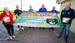 Castleisland RFC members preparing for the Shoemaker's Bar launch of the Split the Bucket fundraiser this weekend last year. Included are: Nóirín Uí Chathasigh, Derek O'Connell, Brian Horgan, Dan Casey, Denis Reidy and Colm Nolan. ©Photograph: John Reidy 27-8-2018