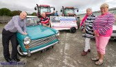 Event participants and representatives of the beneficiaries pictured at the launch of the 2019 Paudie Fitzmaurice Memorial Tractor and Vintage car and Motorbike Run on the yard of the Castleisland Co-Op Mart. Included are John Clifford, Cllr. Charlie Farrelly with Betty Walsh and Sheila Crowley representing Glebe Lodge Residential Centre. ©Photograph: John Reidy