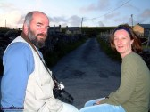 On The Pound Road: Eamon Fleming and Rose Cahill-Halsall pictured on the road made famous by Dessie O'Halloran's CD title. Photograph: John Reidy 7-6-2003