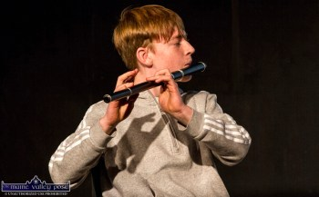 Aodhgán Ó Riordáin playing at the opening night of the 2019 series of Handed Down at Scartaglin Heritage Centre. ©Photograph: John Reidy 19-10-2019