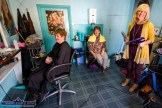 Hairdresser, Nora Drumm pictured on her last day at the salon at No. 79 Main Street, Castleisland with customers, Margaret Scanlon and Sheila Kearney. ©Photograph: John Reidy