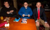 At Friday night's launch of St. Mary's Basketball Club 50th Blitz at the River Island Hotel Castleisland were: reporters, Padraig Hartnett (left) and Murt Murphy with Christmas Blitz founder, Donal 'Duke' O'Connor ©Photograph: John Reidy