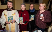 Special guest, Fr. Bryan Shortall pictured with Castleisland Parish Office staff members: Nora Fealey, Noreen O'Sullivan and Martina O'Donoghue at the first Padre Pio, Tuesday night novena at the Church of Saints Stephen and John. ©Photograph: John Reidy