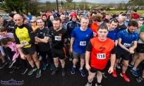 Ready to Go: Part of the large line up of participants on Sunday morning for the 5K memorial run / walk in honour of the late Kerrie Browne who died tragically in a road traffic accident last October. ©Photograph: John Reidy