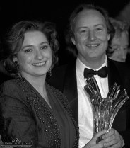 Eurovision winners: Singer Niamh Kavanagh and songwriter, Jimmy Walsh facing the world's press after the contest. ©Photograph: John Reidy 15-5-1993