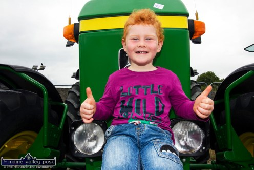 In his Element: Little Jack Roche from Lyreacrompane was in Castleisland on Sunday morning to see all the tractors at the gathering for the 10th Paudie Fitzmaurice Memorial Tractor and Vintage Vehicle Run. The event attracted over 150 vehicles of various kinds.. ©Photograph: John Reidy