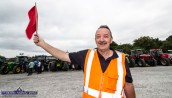Johnny O'Callaghan was one of the volunteer traffic controllers at the 10th Paudie Fitzmaurice Memorial Tractor and Vehicle Run on the yard of Castleisland Co-OP Mart on Sunday. ©Photograph: John Reidy