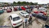 As far as the eye can see: the scene on the Castleisland Co-OP Mart yard before the off in the 10th Paudie Fitzmaurice Memorial Tractor and Vehicle Run on the yard of Castleisland Co-OP Mart on Sunday. ©Photograph: John Reidy
