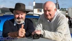 Denny Cronin, Maherees (left) and Joe Kearney, Castleisland pictured at the revived Castlemaine Fair on Sunday. ©Photograph: John Reidy