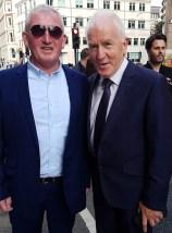 Castleisland native, Londod based, Dan Pembroke pictured with Jimmy Deenihan at Dan Tim O'Sullivan's big day in London. Photograph: Ted Kenny