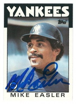 Autographed 1986 Topps Cards