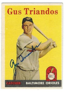 Autographed 1958 Topps Cards