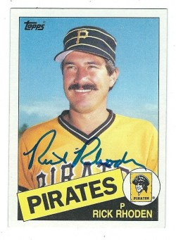 Autographed 1985 Topps Cards