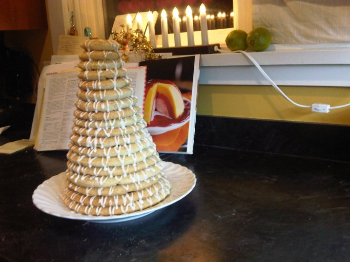 Kransekake Norwegian almond paste ring cake