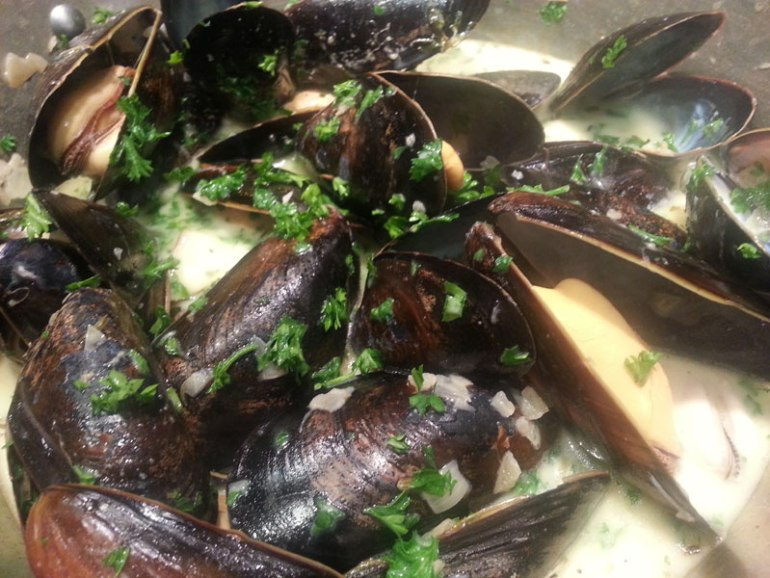 Homecooked mussels
