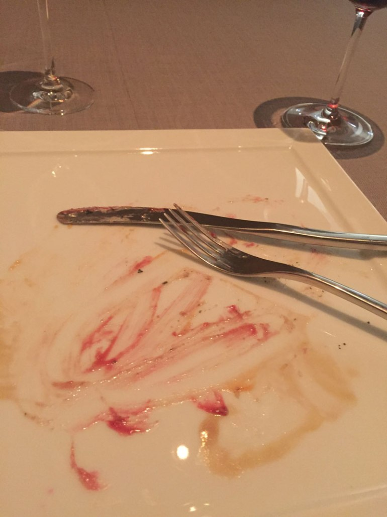 Empty plate at Grace