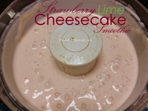 Lime and Strawberry Cheesecake Smoothies: Back to School Lunch Ideas – Giveaway – Over
