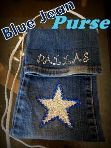 Upcycled Blue Jean Purse {Pocket Purse}