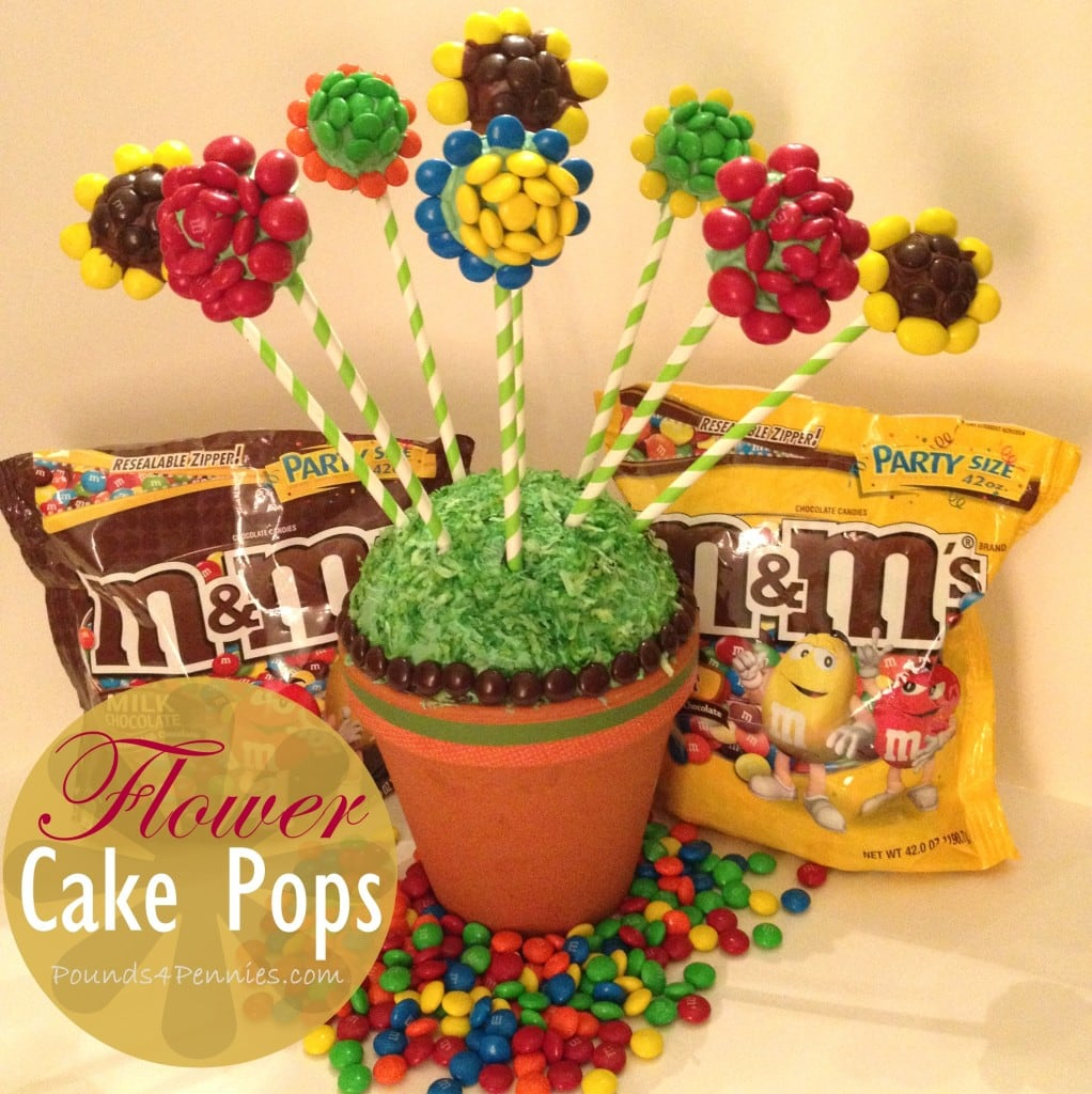 Baking With Mms Flower Cake Pops Bouquet