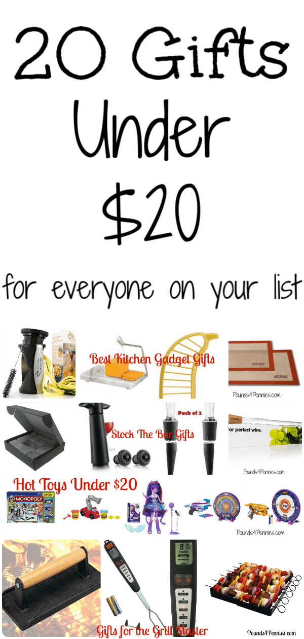 20 gifts for Under 20 dollars