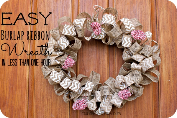 How to make a burlap wreath with wire for Crafts to make with burlap