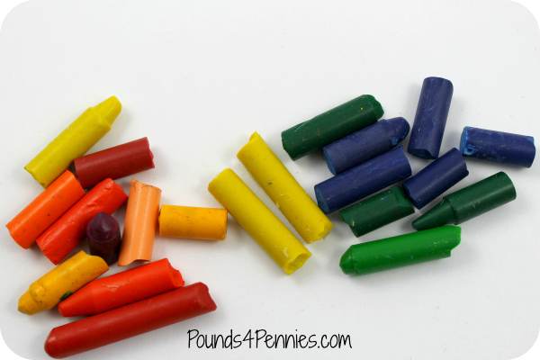 Broken Crayons for Valentines