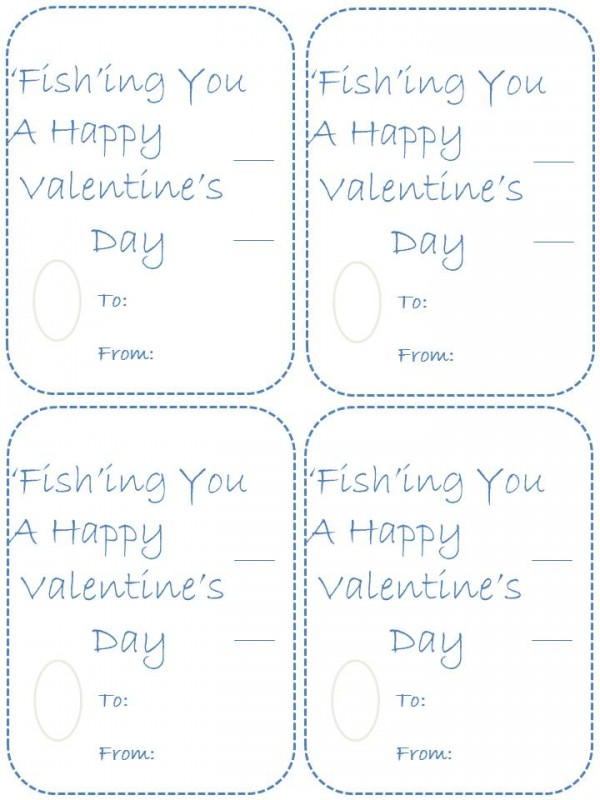 Homemade fish valentines