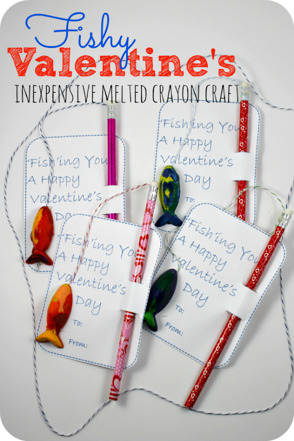 Melted Crayon valentine craft