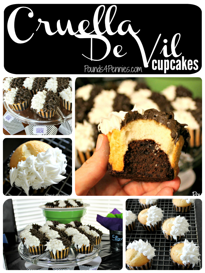 Cruella De Vil Cupcake Collage