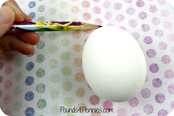 Measuring tissue paper and egg