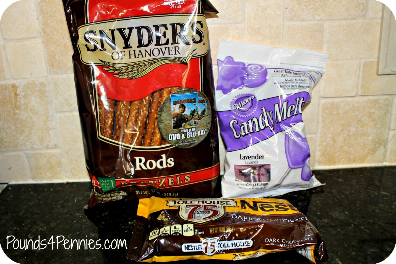 Ingredients for candy coated pretzels