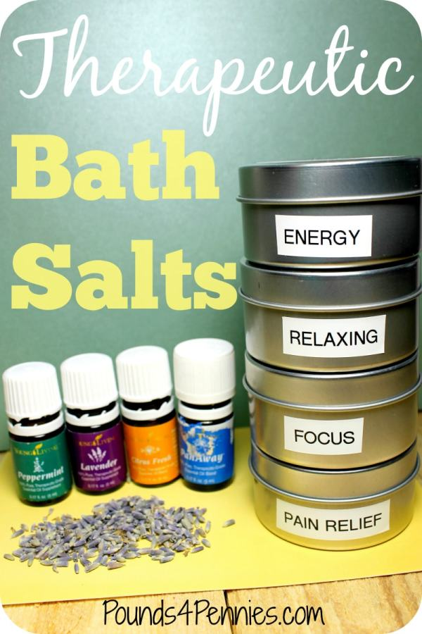 Therapeutic Bath Salts essential oils