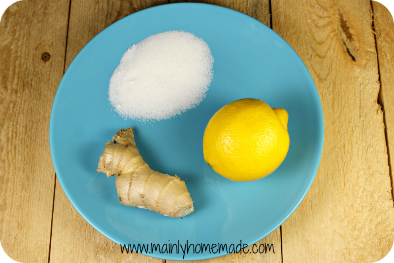 Ingredients for Homemade Lemonade