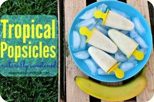 Tropical Popsicles pineapple banana coconut
