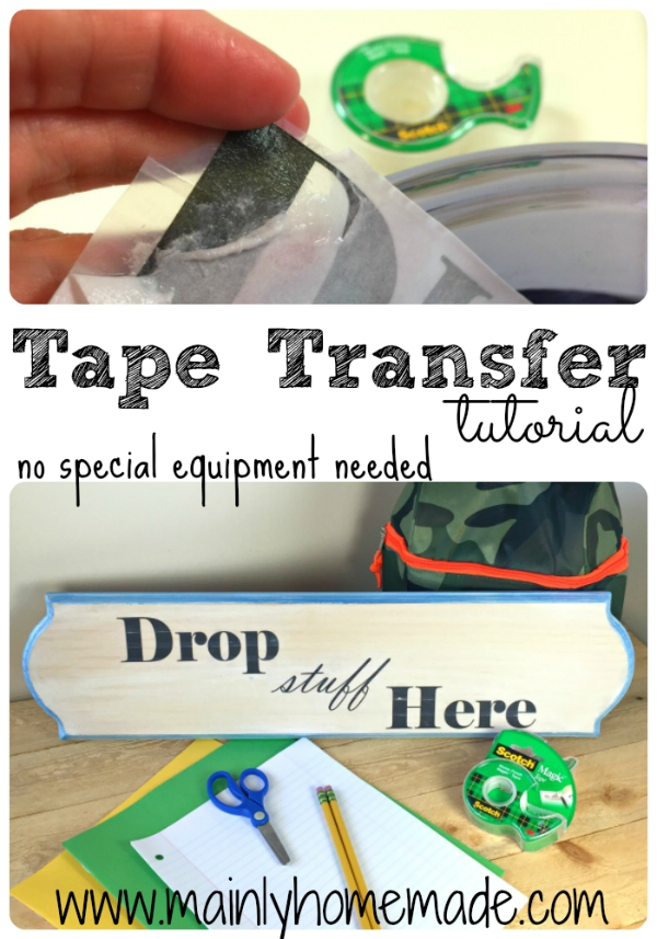 Easy Tape Transfer Craft tutorial No equipment