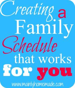 Creating a Family Schedule That Works for You (Day 6)