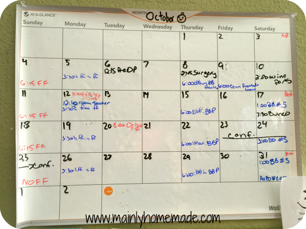 Calendar for Family Schedule