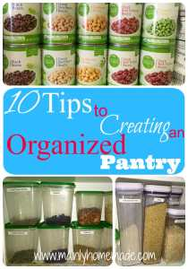 Tips to creating an organized Pantry