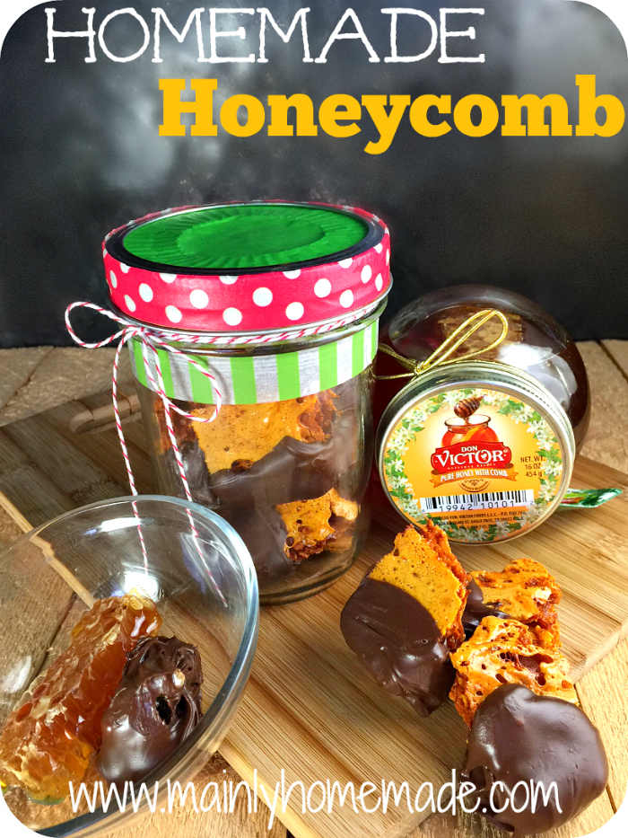Chocolate covered Homemade Honeycomb