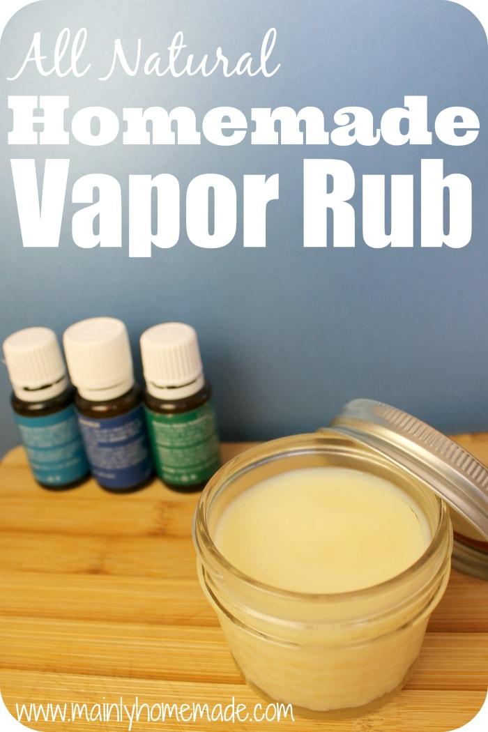 All natural Homemade Vapor Rub 1