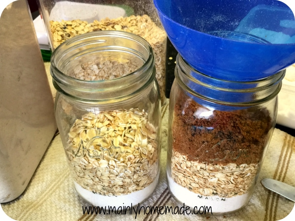 Brown Sugar Homemade Oatmeal Cookie Mix Recipe