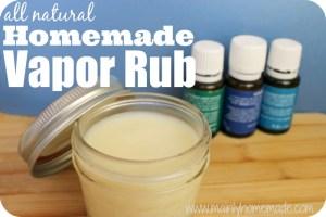 all natural homemade vapor rub