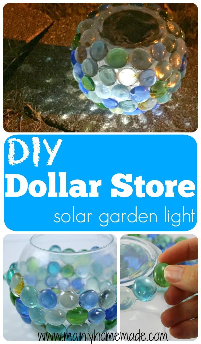 DIY Dollar Store Solar Garden Globe Light