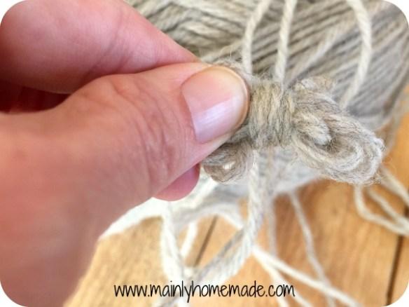 Making Ball for Homemade wool dryer balls