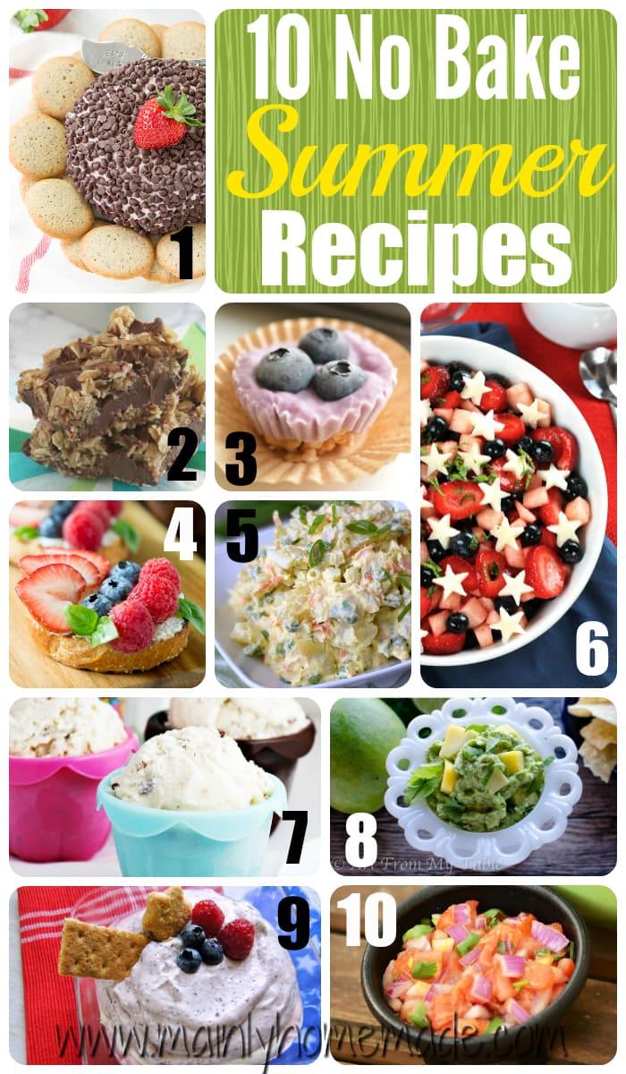 10 No Bake Summer Recipes