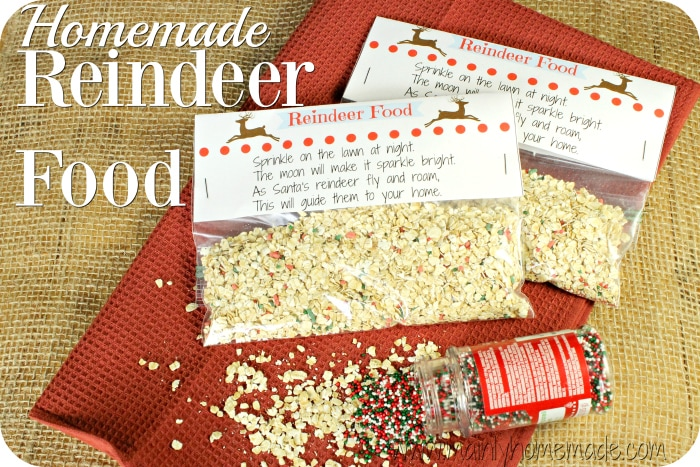 photograph about Reindeer Food Labels Printable named Do-it-yourself Reindeer Foodstuff Recipe