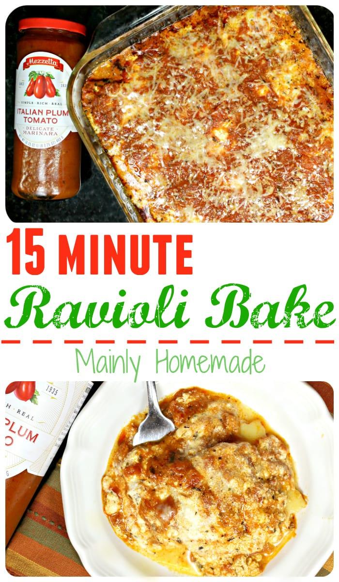Ravioli Bake Recipe Meal Idea