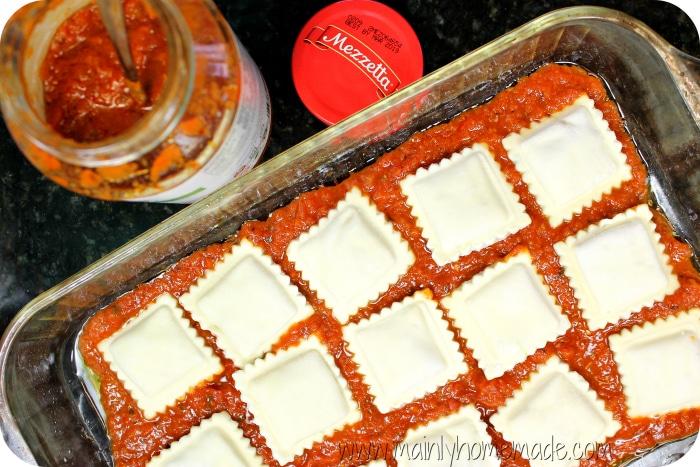 Ravioli Bake recipe Ravioli Placement