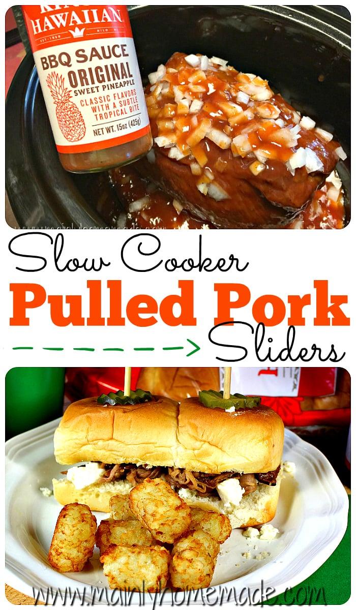 slow cooker pulled pork sliders