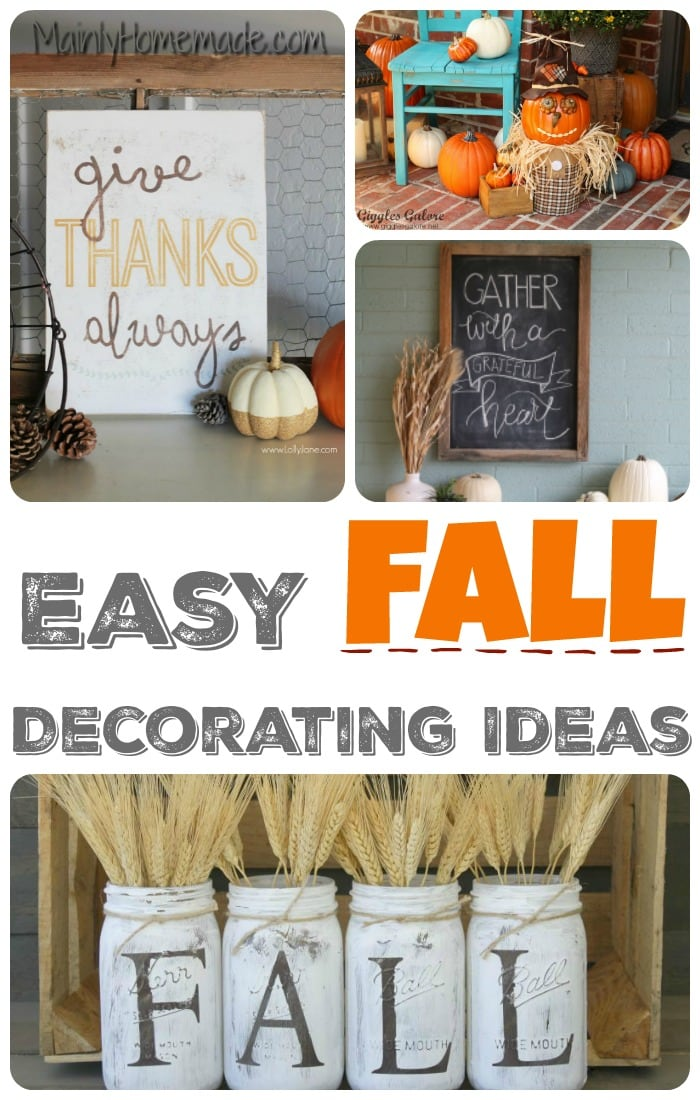 Simple  Fall Decorating  Ideas  The Mommy Club Mainly